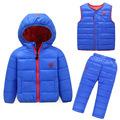 2016 New Children Girls Snowsuit Winter Clothing Down Jackets Set Fashion Hooded Thick cartoon lion Pattern