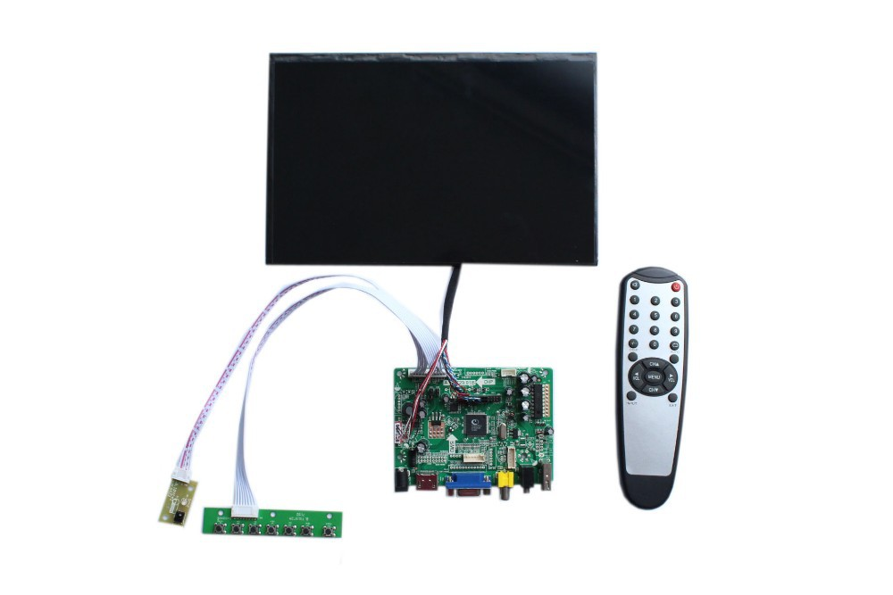 HDMI+VGA +AV +Audio LCD controller board+IPS 10.1 inch LCD panel N101ICG-L21 1280*800+LVDS cable +Remote control +OSD keypad