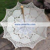 100% хлопчатобумажная пряжа ручной работы Ремесла кружевные свадебные зонтики