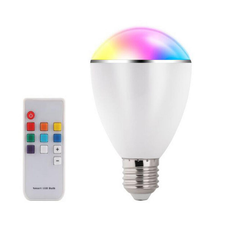 AC100-240V BL07R LED RGB Bulb E27 6W Smart Lamp Magical 7 Colors Light with Remote Control Home Illumination(China (Mainland))