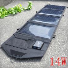 14W 5V Portable Folding Solar Charger Panel Battery Backup Cell Phone - Boruit YIHOSIN Lighting store