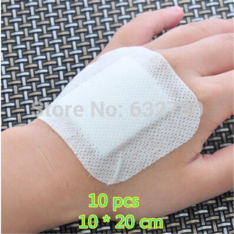 10Pcs 10*20cm Large Size Hypoallergenic Comfortable Non-woven Medical adhesive Wound Dressing Gauze Bandage Anti-infection care(China (Mainland))