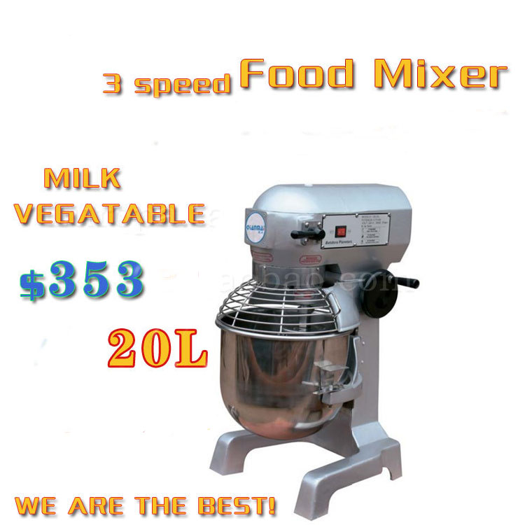 20L milk mixer food mixer have 3 grades of speed stainless steel save safe(China (Mainland))