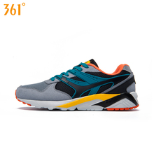 361 Men's Spring Breathable Mesh Sports Running Shoes Multi-color Retro Damping Absorbent Outdoor Sneaker