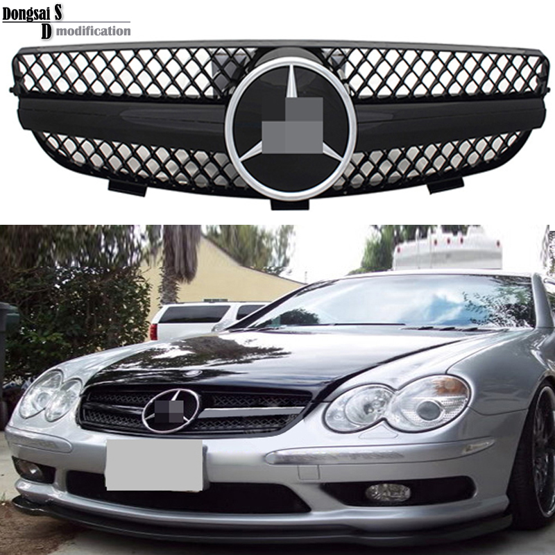 Mercedes W209 ABS front bumper grills grille for Benz CLK class W209 2003-2009 CLK500 CLK320 CLK350(China (Mainland))