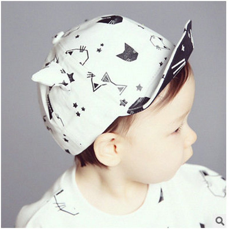 Candy Color Cartoon Cat Pretty Spring Summer Baby Kids Infant Casual Sun Hat Soft Brim Baseball Cap Visors For 6-18 Month Gorras(China (Mainland))