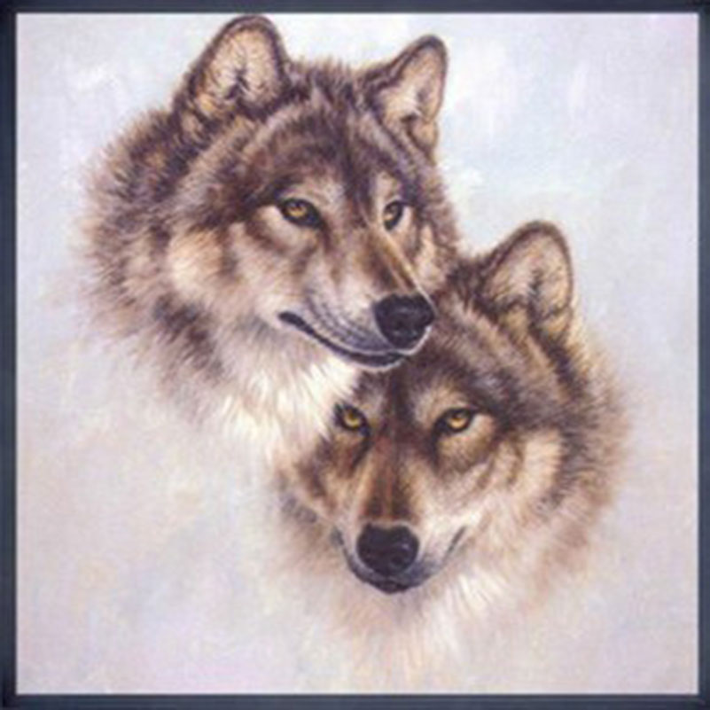 5D Diy Diamond Painting Cross Stitch Wolves Diamond Embroidery Series Cube Drill Picture Diamond Puzzle(China (Mainland))