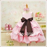 Летний стиль розничной рукавов платье - 1шт сингл детей платье
