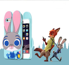 Lovely Movie Cartoon Zootopia 3D Rabbit Judy Hopps Phone Case Capa Soft Silicon Back Cover Funda ZTE Blade D6 V6 X7 L2 PLUS - Fashion Accessories Co. Ltd store