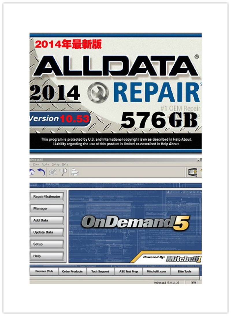 2017 newest alldata and mitchell car repair software best auto repair program in new 750gb hard disk work for all cars&trucks