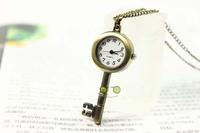 старинные ключевые острые часы бронзовые карманные часы кулон ожерелье подарок настоящее