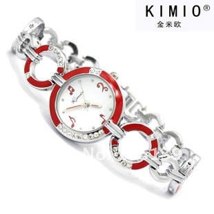K423-2~  Brand Watch New Red Painting Design Stainless Steel Japan Movement Lady's Watch