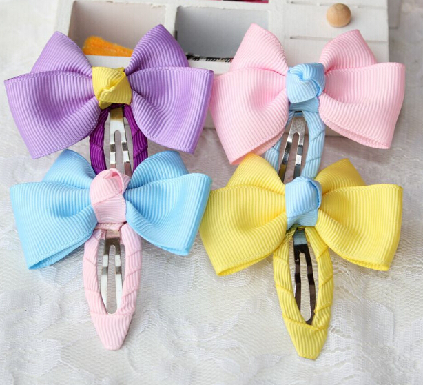 Wholesale or retail 3pcs fashion girl bobby pins hairclips kids infant child colors flowers bowknot hair clips headwear hairpins(China (Mainland))