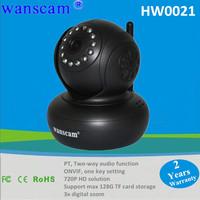 ONVIF 1.0 Megapixel 720P HD TF-Card Support IR Cut Plug&Play Dual Audio Wireless Network Pan/Tilt NightVision Security IP Camera