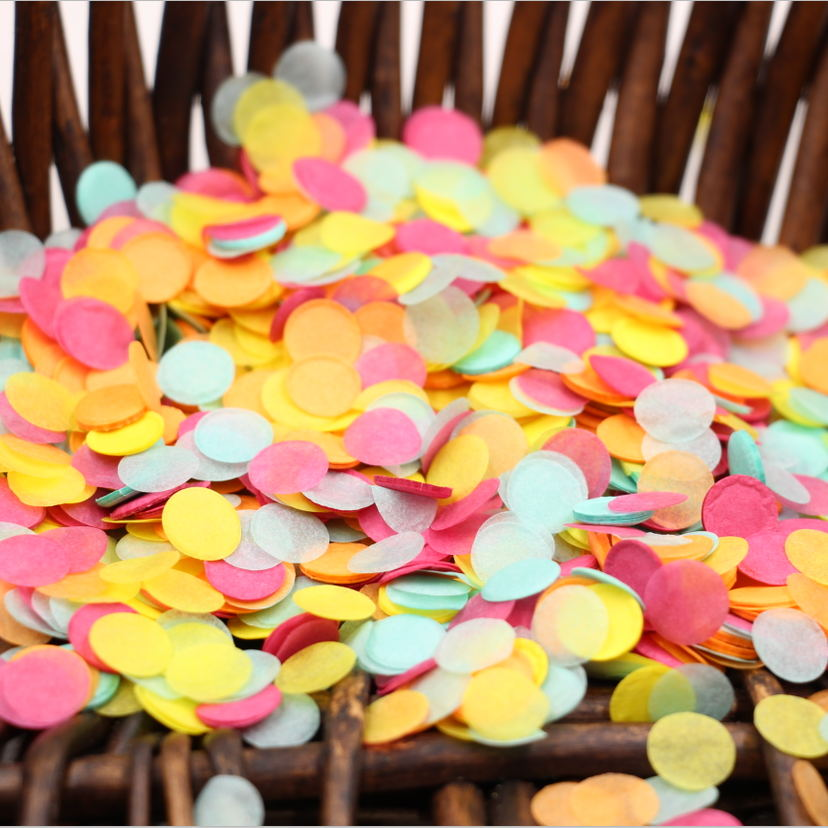 /bag Yellow Pink Mint Paper Supplies Wedding Confetti Birthday Party ...