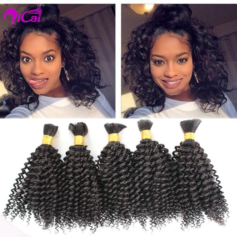 8A Unprocessed Virgin Human Hair for Braiding Bulk Brazilian Virgin Kinky Curly Human Braiding Hair Bulk