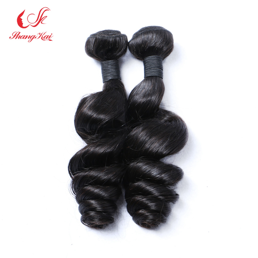 Peruvian Virgin Hair 2 bundles lot Peruvian Loose Wave Peruvian Human Hair Weaves 7A Peruvian Virgin Hair Loose Wave 1b