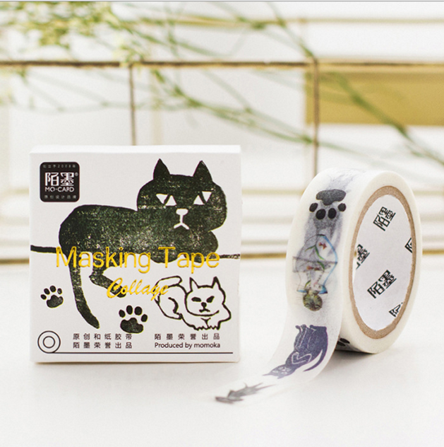 2Pcs/ Lot 2016 Best Sale Miss Time Washi Tape Beautiful High Cat Patterned Japanese Adhesive Tape Paper Sticky DIY Papeleria(China (Mainland))