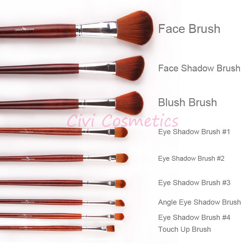 Makeup brushes oval guide