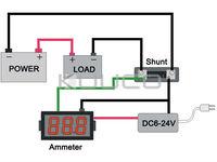 Измеритель величины тока DC 12V 24V DC 0 50A 0,36 /Tester +