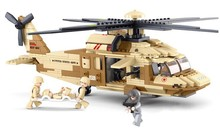 SLUBAN Air force Military Battle UH-60L Black Hawk helicopter Construction Model Bricks compatible with legoe