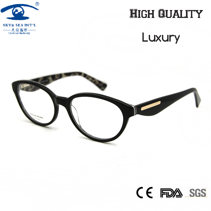 Eyeglasses Frames Luxury : New 2016 Cat Eye Eyeglasses Frames Retro oculos de grau ...