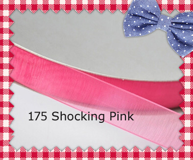 200yards/roll 2.5 Inch (63mm) Shocking Pink / Garden Rose / Azalea / La Rosa / Coral Rose Organza Ribbon For Gift Decoration(China (Mainland))