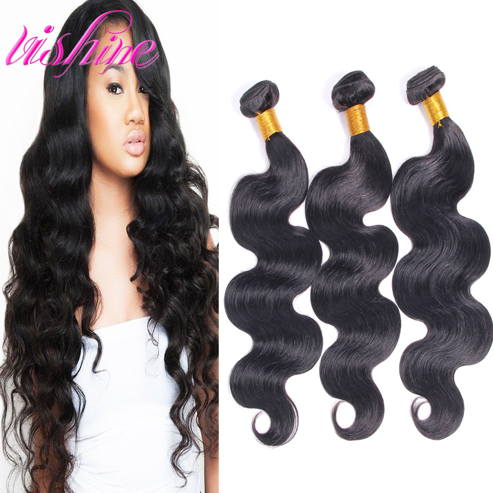 Brazilian Virgin Hair Brazilian Body Wave 3pcs/lot   Virgin Hair Bele Virgin Hair Body Waves Unprocessed Human Extension Weave