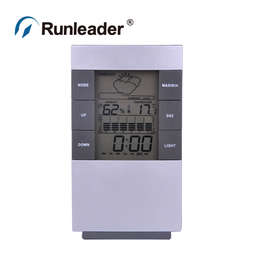 Digital LCD Hygrometer Thermometer Temp Humidity Meter Max/Min Clock Indoor(China (Mainland))