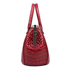 2016 Fashion High Quality PU Leather Crocodile Pattern Women Clip Handbags Designer Ladies Large Crossbody Bags