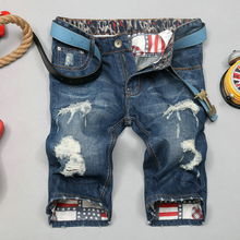 Men Shorts Jeans Denim Famous Brand Hole Washed Dsq Skinny Shorts Disel Whisker Homme Biker Straight Print Pants