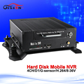 720P Car Nvr 4CH Mobile Video Recorder H 264 Analog HDD Mnvr Support Waterproof IR IP