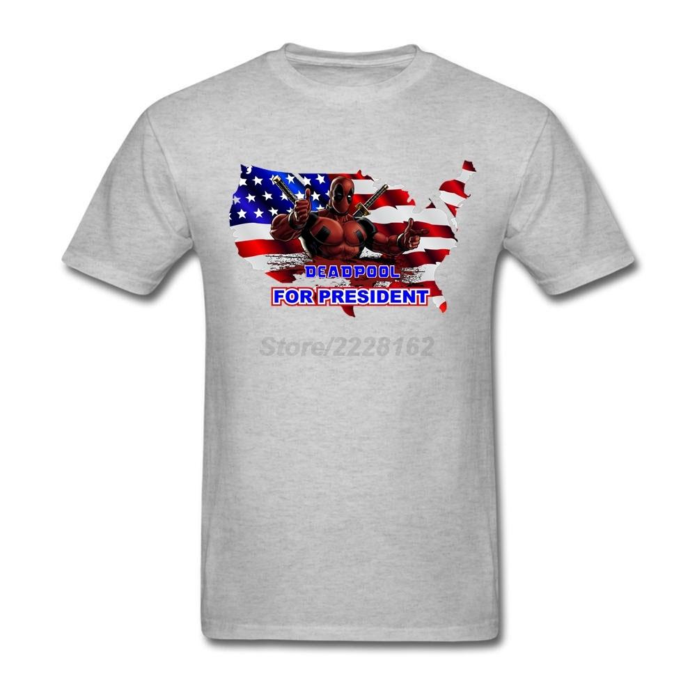 Shirt design usa - Men Deadpool For President T Shirts Music Unique P