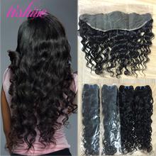Brazilian Lace Frontal Closure Brazilian Water Wave Virgin Hair Wet Wavy Virgin Brazilian Hair with Closure Lace Frontal Closure