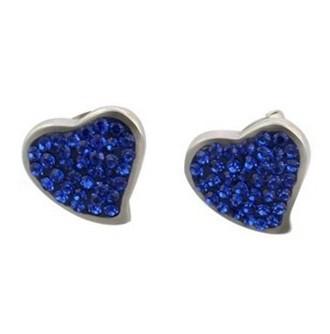 Серьги Стад любовь сердца форма кристалл серьги для женщин