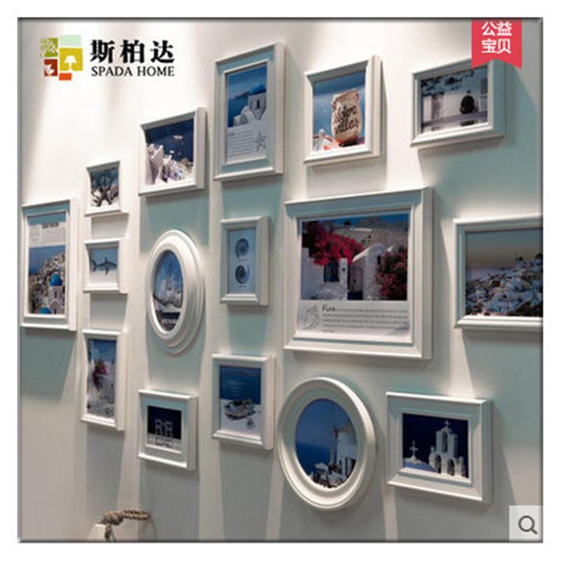 Porta retrato de parede para fotos Digital Photo Frame Calendar Digital Picture Display Frame photo wall combination(China (Mainland))
