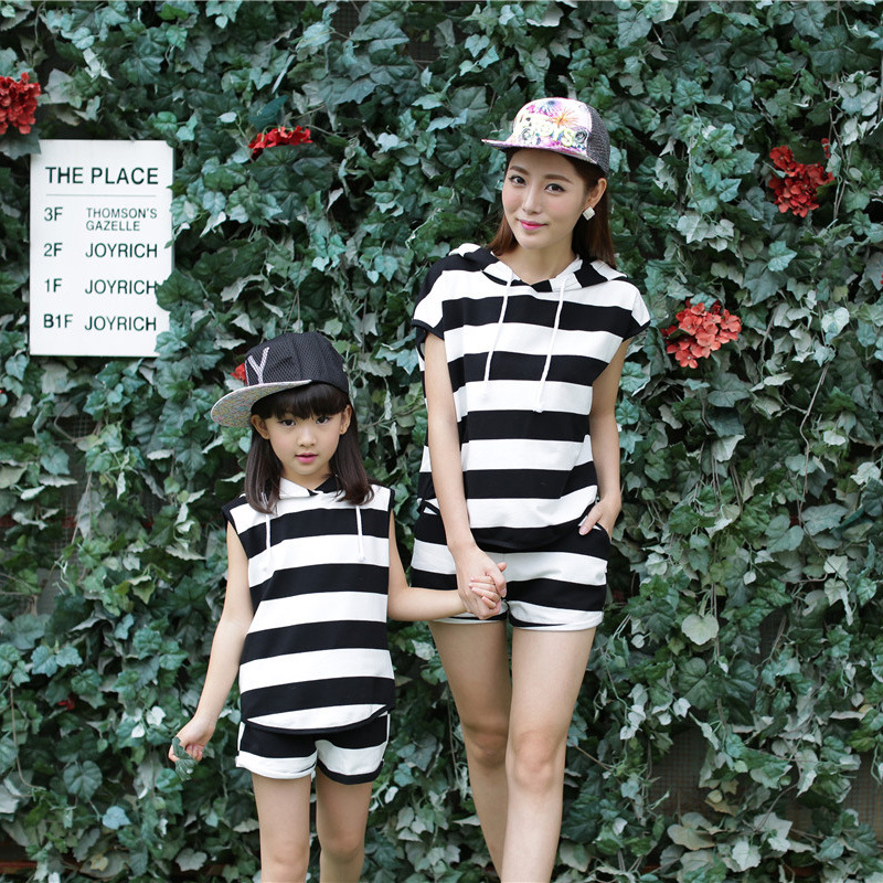 2016 summer family matching mother daughter clothes outfits Family Clothing Sets girls font b women b