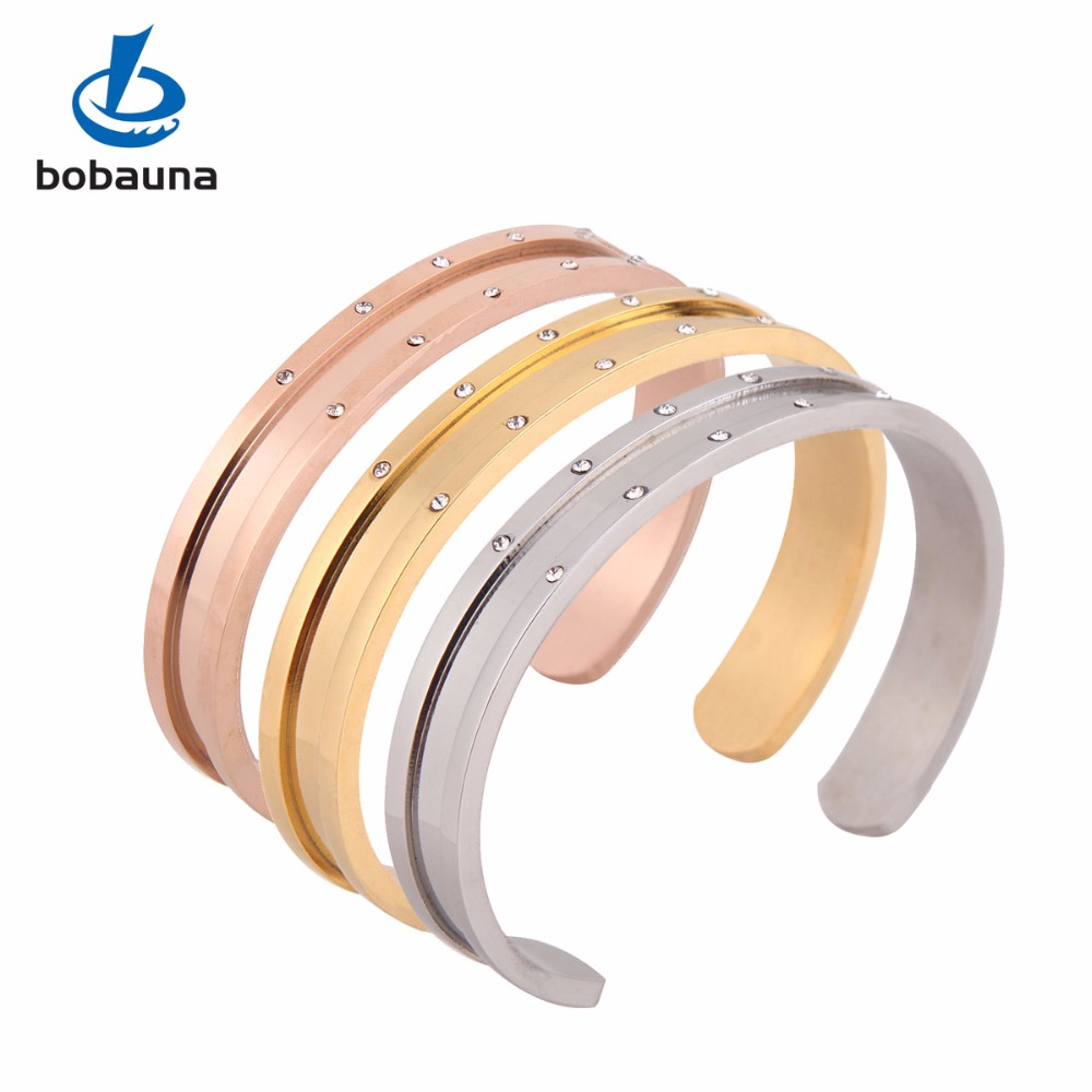 New novelty popular girls love stainless steel jewelry, 18K gold plated Zircon CZ Women cuff bracelet hair tie bangle opening(China (Mainland))