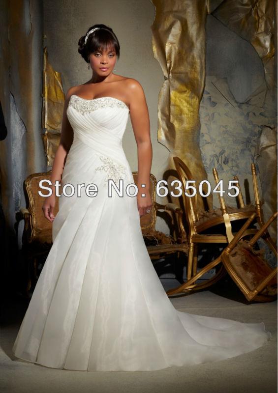 Ivory organza ruffle skirt mermaid plus size wedding dress for Plus size wedding dresses utah