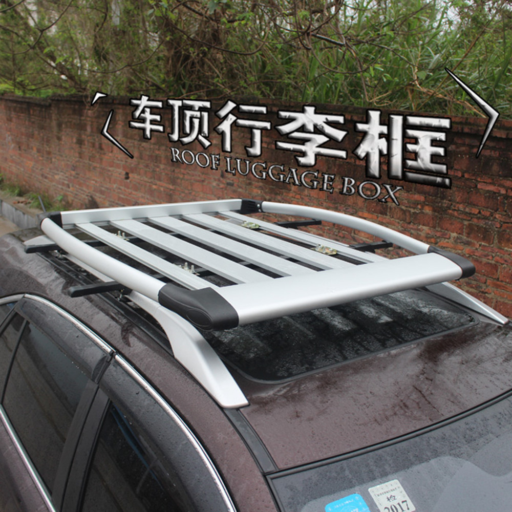 Top Quality Luggage Carrier Basket Silver Color Car Roof Box For Universal Car with a Side Roof Rack(China (Mainland))