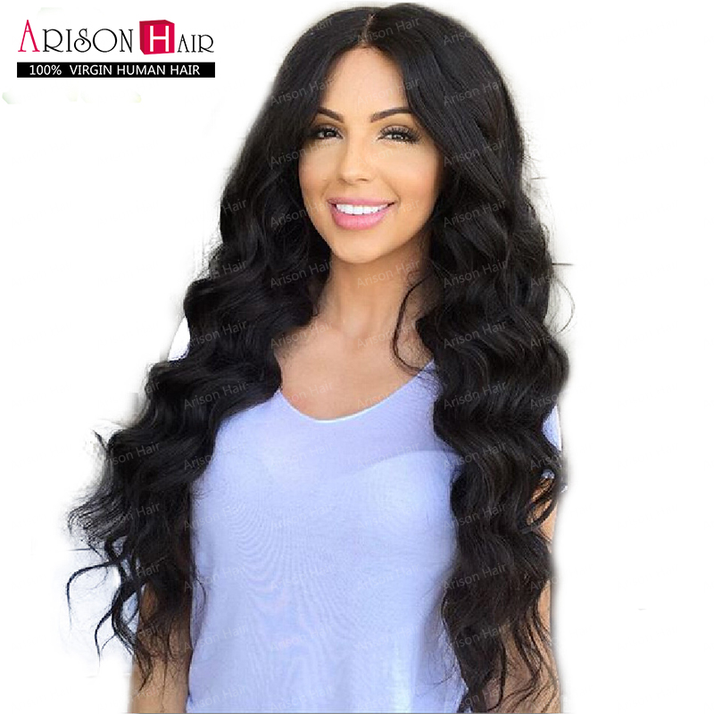 Фотография Glueless Full Lace Wig Brazilian Deep Body Wave Full Lace Human Hair Wigs For Black Women Best Lace Front Wig With Baby Hair