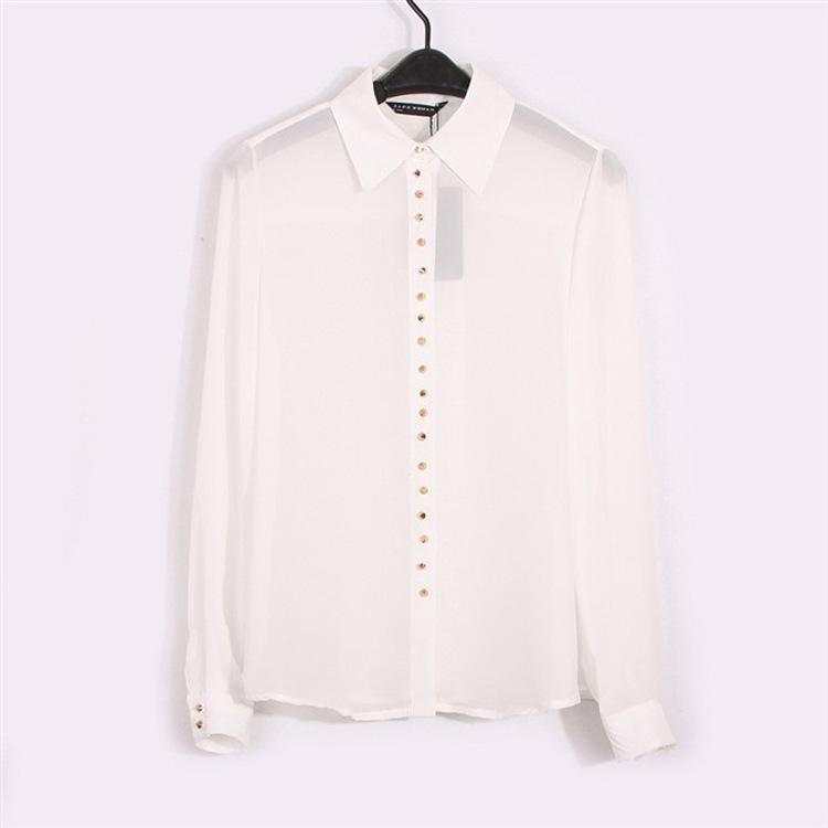 Белые Блузки С Шипами