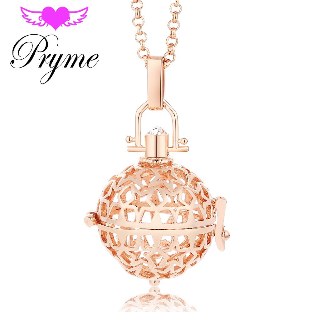 Pryme Angel Bola10pcs/Wholesale 20.5mm Perfume Box Angel Star Pattern Engelsrufer Cage Necklaces Pendants Sound Ball Jewlry L057(China (Mainland))