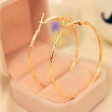 Earrings - New Arrival Korean Fashion Personality Hollow Big Circle Earrings Women Simple Atmospheric Jewelry #1792258(China (Mainland))