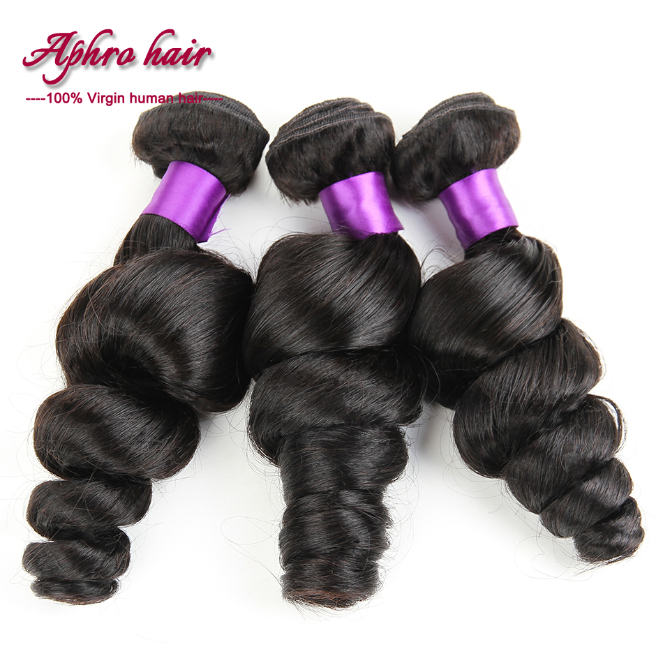 brazilian hair 3 pcs ms lula hair with closure and bundles unprocessed virgin brazilian hair brazilian loose wave virgin hair<br><br>Aliexpress