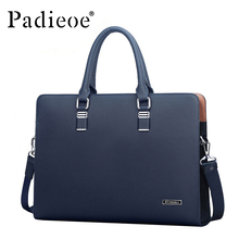 Padieoe Luxury Brand Genuine Real Cow Leather Messenger Bags Business Men Briefcases Handbags Men Totes Casual Male Bag Shoulder(China (Mainland))