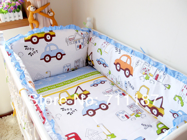Cheap Cute Baby Cot Set 100% Cotton Crib Set For Kids,Baby Bedding ...