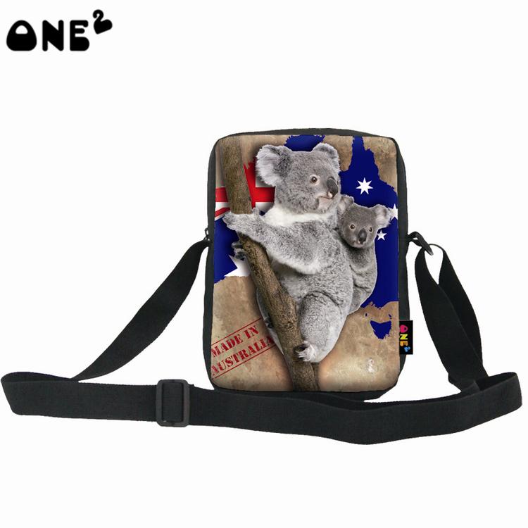 ONE2 design Australia animal 600D polyester koala bear single shoulder messenger long strip bag for students boy girls(China (Mainland))