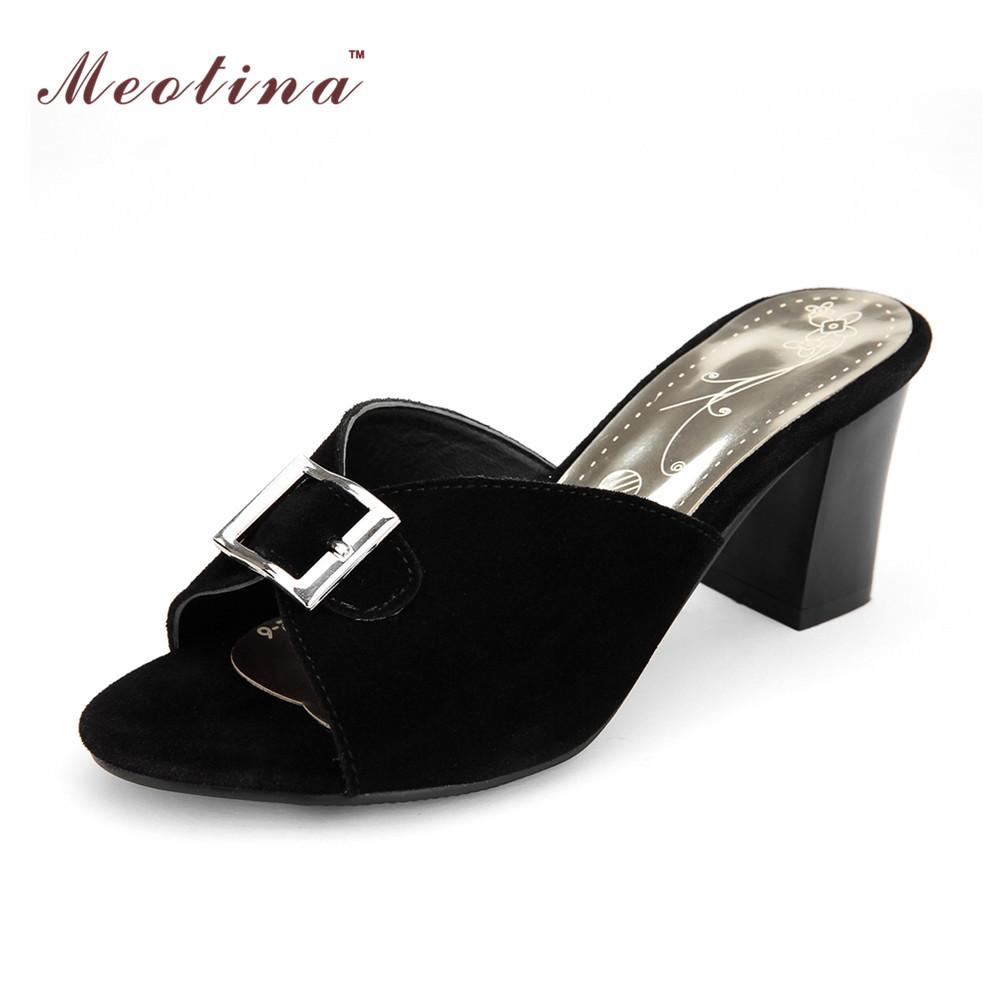 Cheap Black Chunky Heels