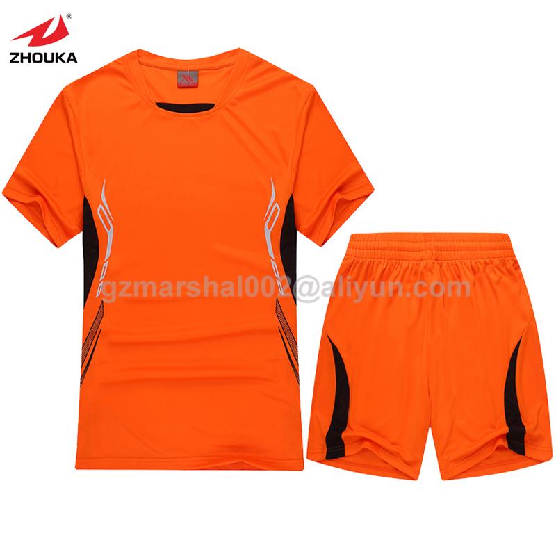 Hot sale Orange soccer uniform top quality soccer training suit(China (Mainland))
